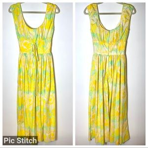 Lililly Pulitzer Vintage 1960s Yellow Floral Dress